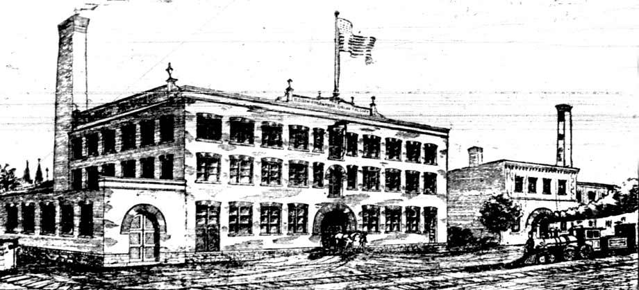 Architect's rendering of the North Tonawanda Barrel Organ Factory, Tonawanda News, 1893