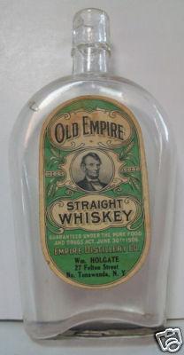 Old Empire Straight Whiskey, Wm Holgate, 27 Felton St., bottle (1906).jpg