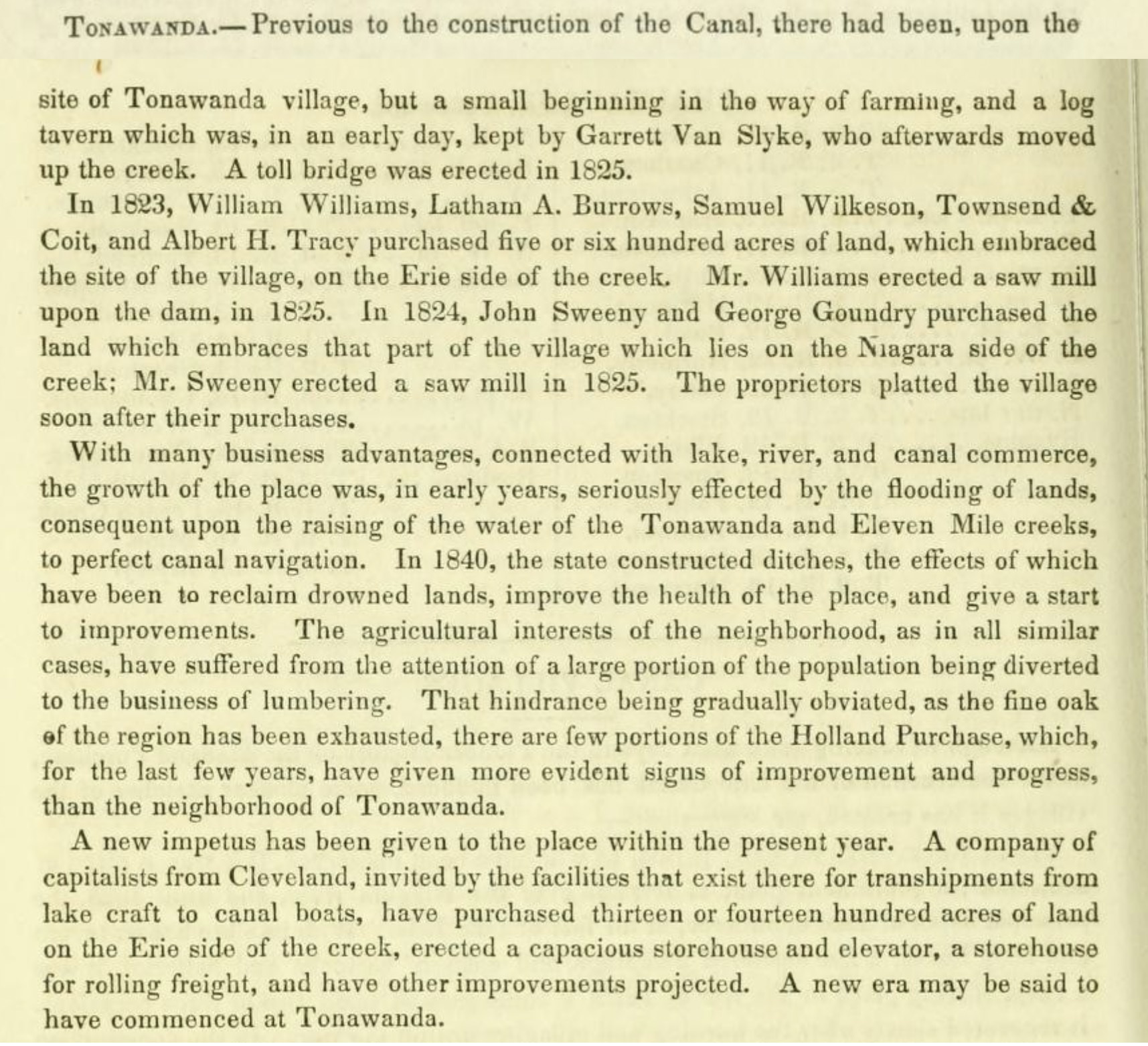 Early sketch of Tonawanda (Pioneer History of the Holland Purchase of Western New York, 1849).jpg