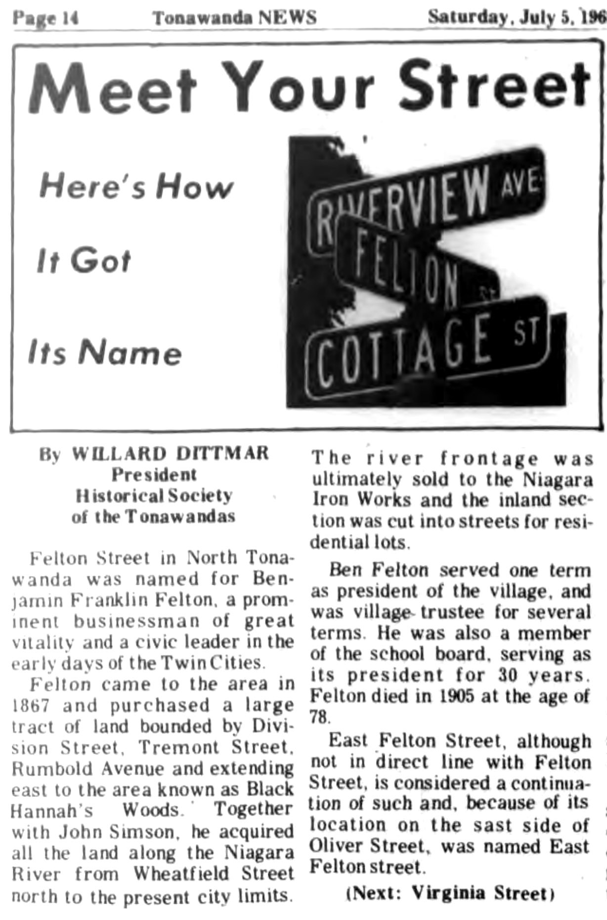 Meet Your Street - Felton Street  (Tonawanada News, 1969-07-05).jpg