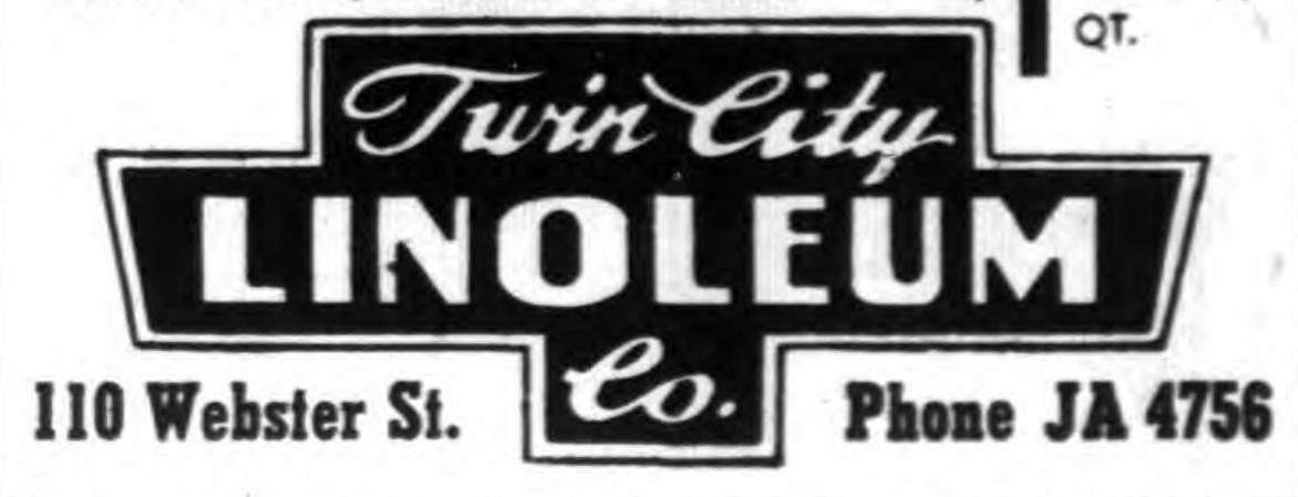 Twin City Linoleum, 110 Webster, ad, logotype (Tonawanda News, 1953-02-06).png