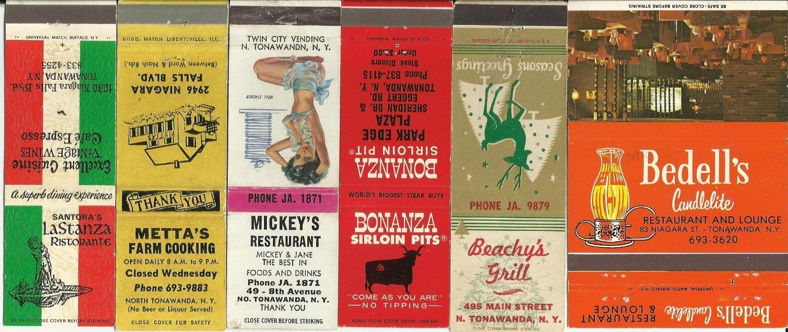 Bedells and others, matchbooks (c1960).jpg