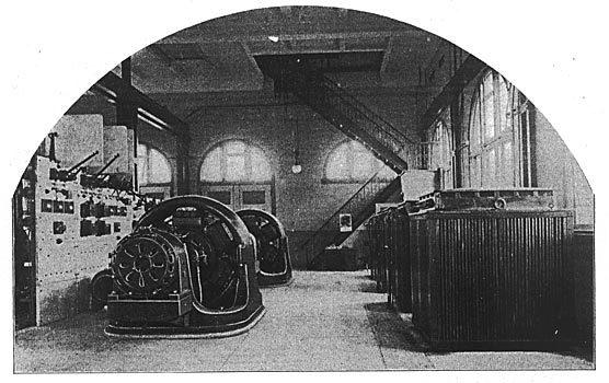 Tonawanda Power Company, Robinson Road Powerhouse, interior photo (1900).jpg