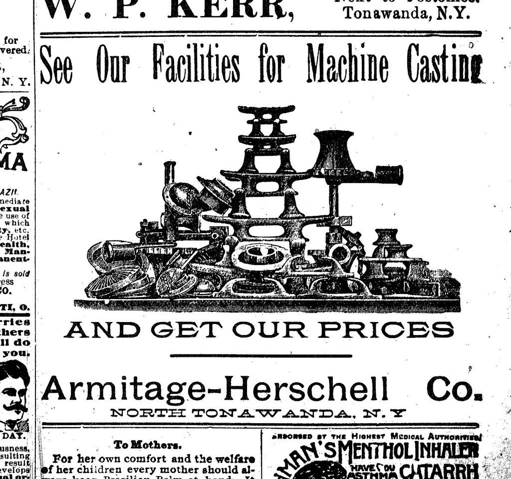 Armitage-Herschell, machine casting, ad (Tonawanda News, 1896-05).jpg