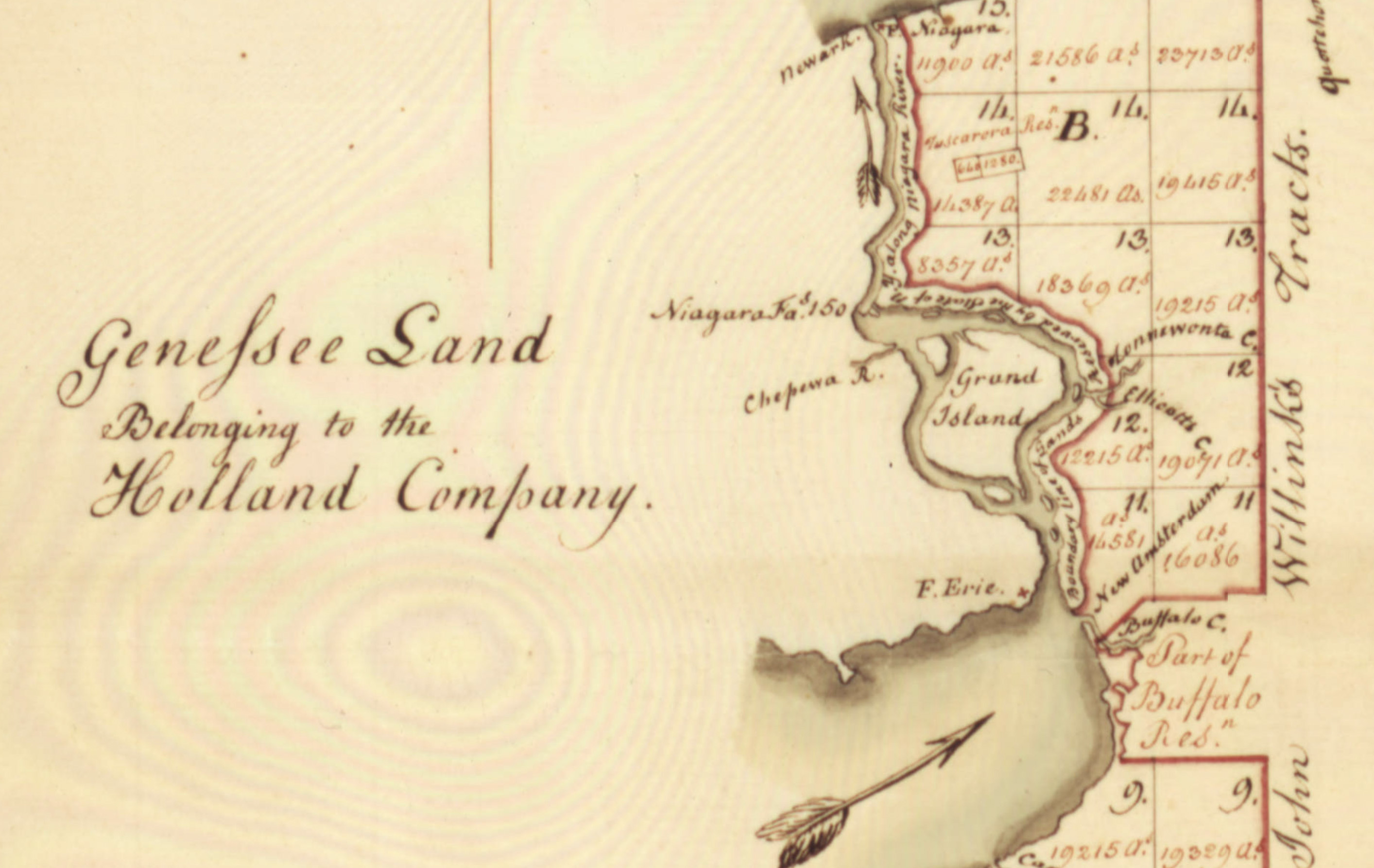 Genesee land of Holland Land Co., Mile Reserve, map (1802).jpg