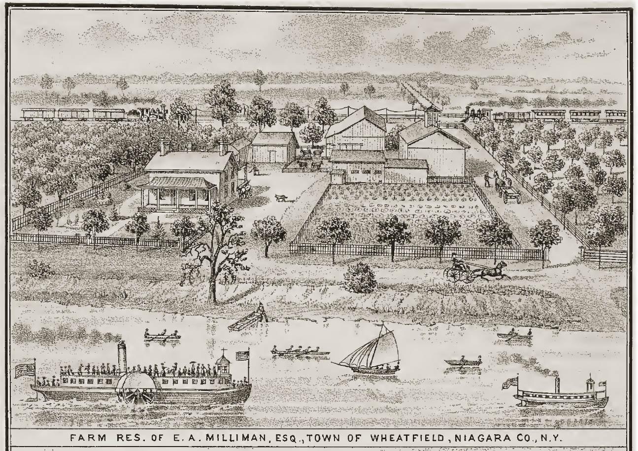 Farm residence of E. A. Milliman, Esq., illustration (History of Niagara County, 1821-1878).jpg