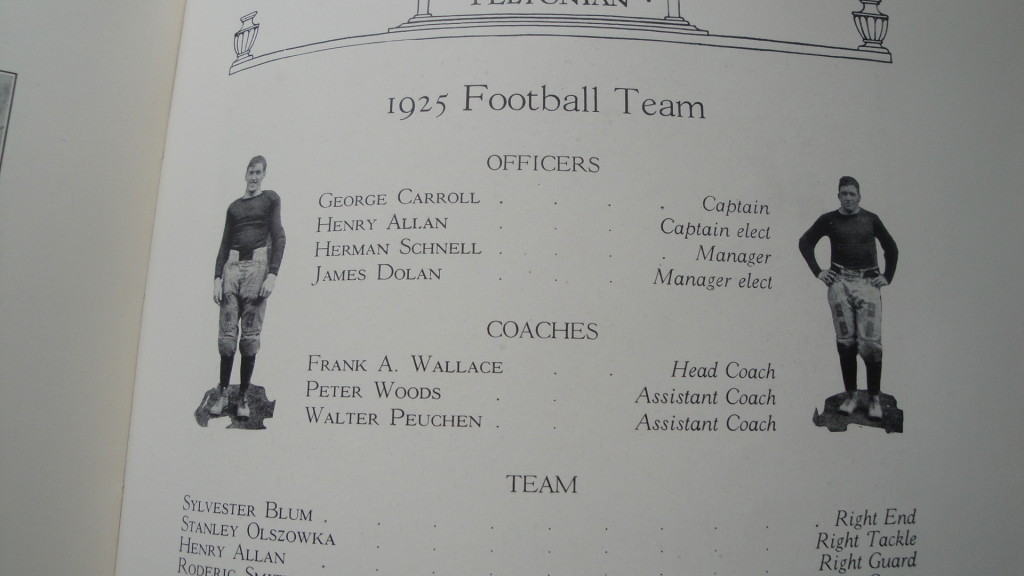 Feltonian yearbook, football team officers and coaches, photo (1926).jpg