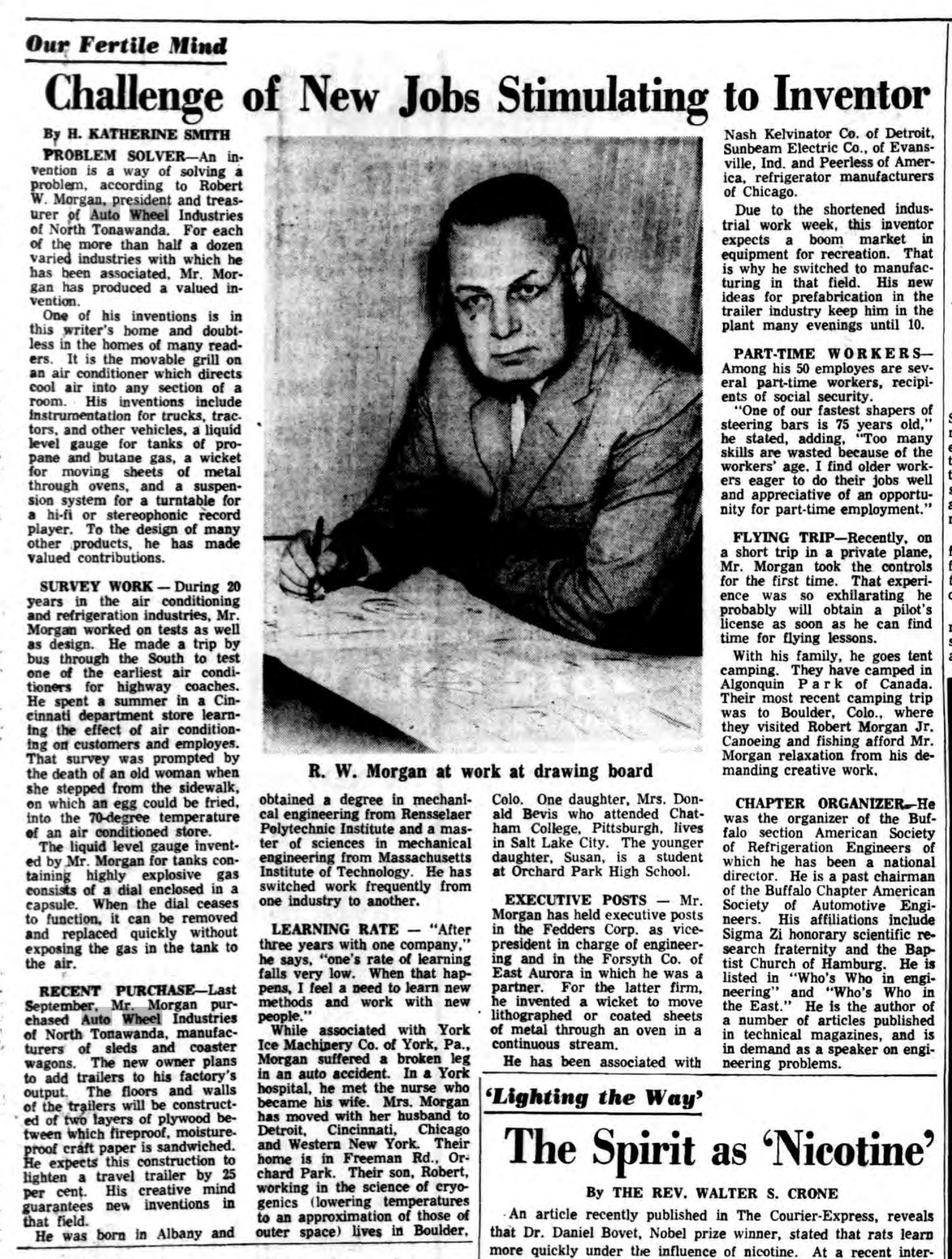 R. W. Morgan profile, Auto Wheel new owner and president, article (Buffalo Courier-Express, 1965-01-24).jpg