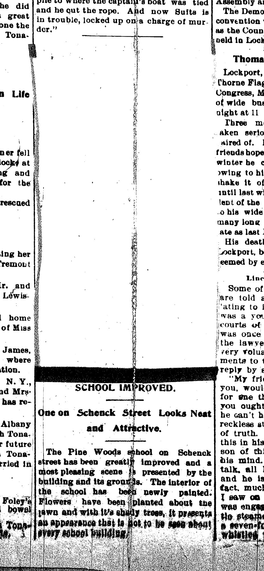 Pine Woods School Improved, article (Tonawanda News, 1897-09-07).jpg