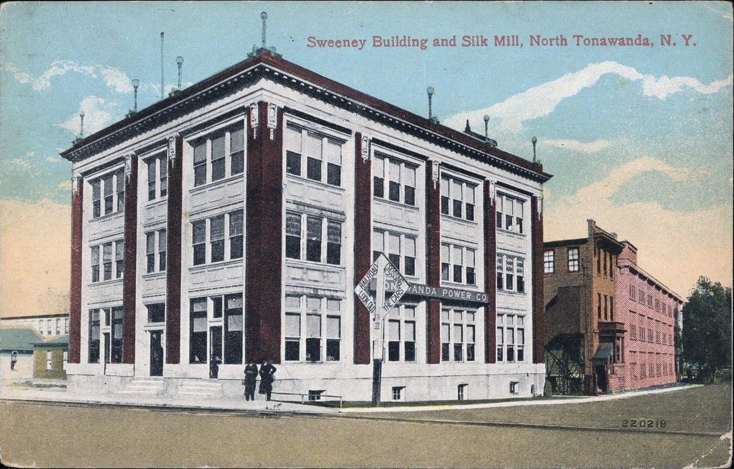 Sweeney Building and Silk Mill, postcard.jpg