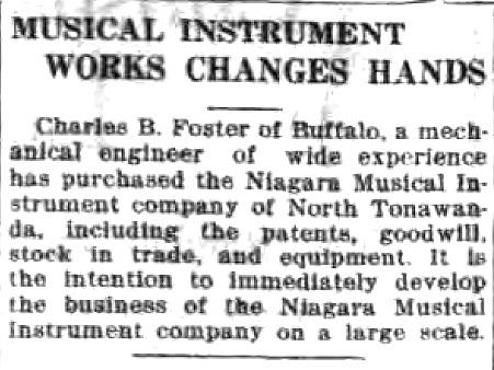 Musical Instrument Works Changes Hands, Niagara MIMC, article (Tonawanda News, 1917-10-02).jpg