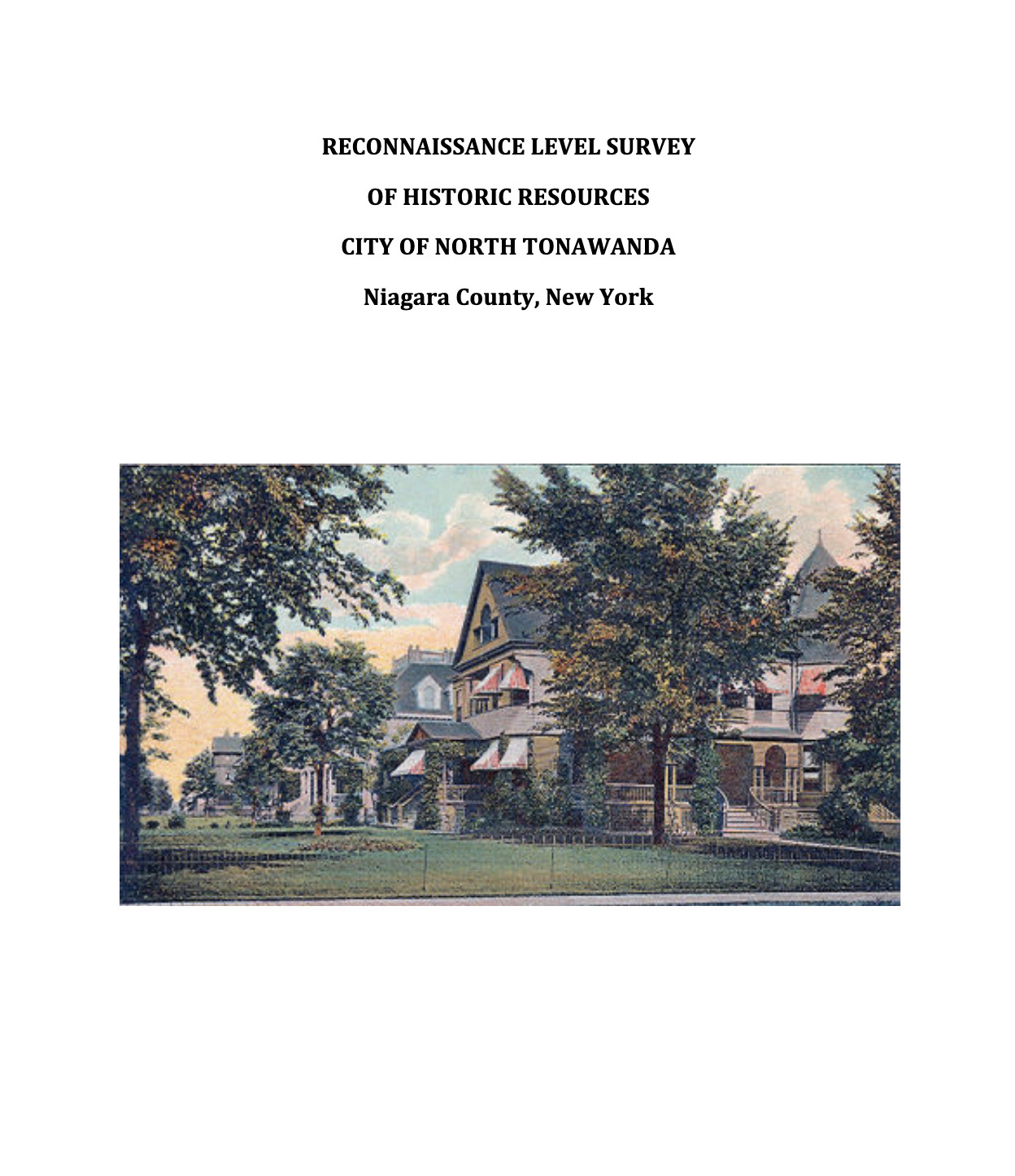 Reconaissance Level Survey of Historic Resources of City of North Tonawanda (kta preservation, 2019) cover.jpg