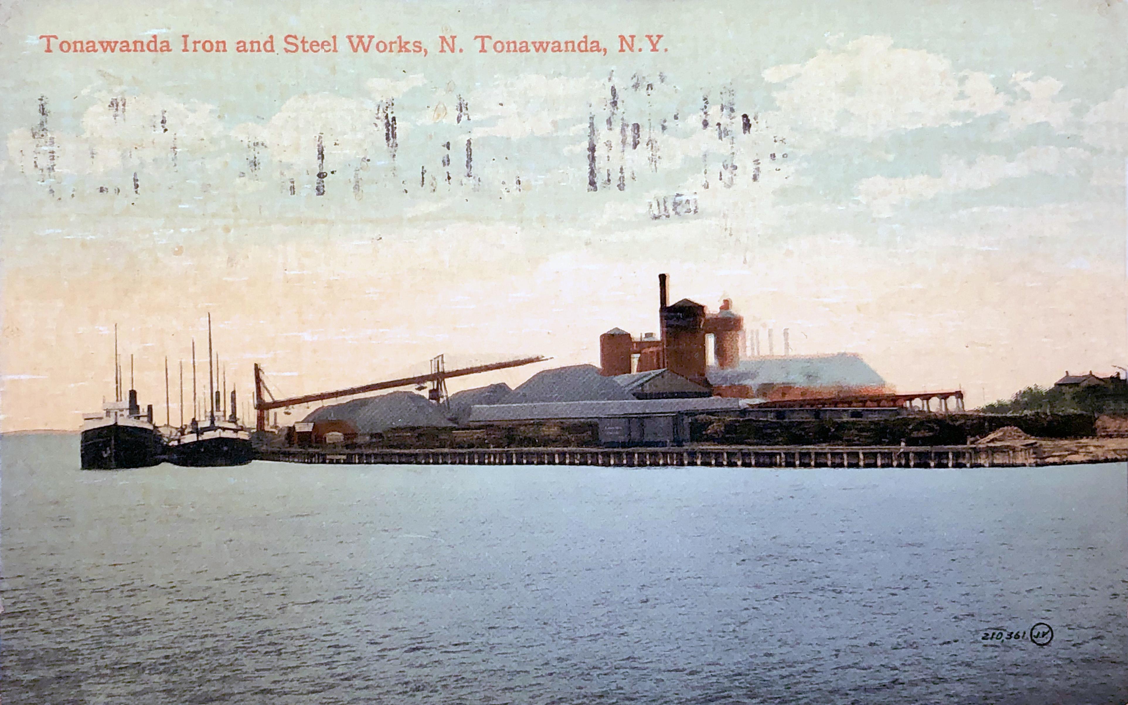 Tonawanda Iron and Steel Works, postcard (1910).jpg
