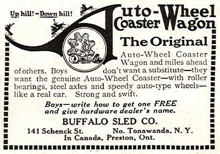 Auto Wheel Coaster Wagon, Buffalo Sled Co., illustrated ad.jpg