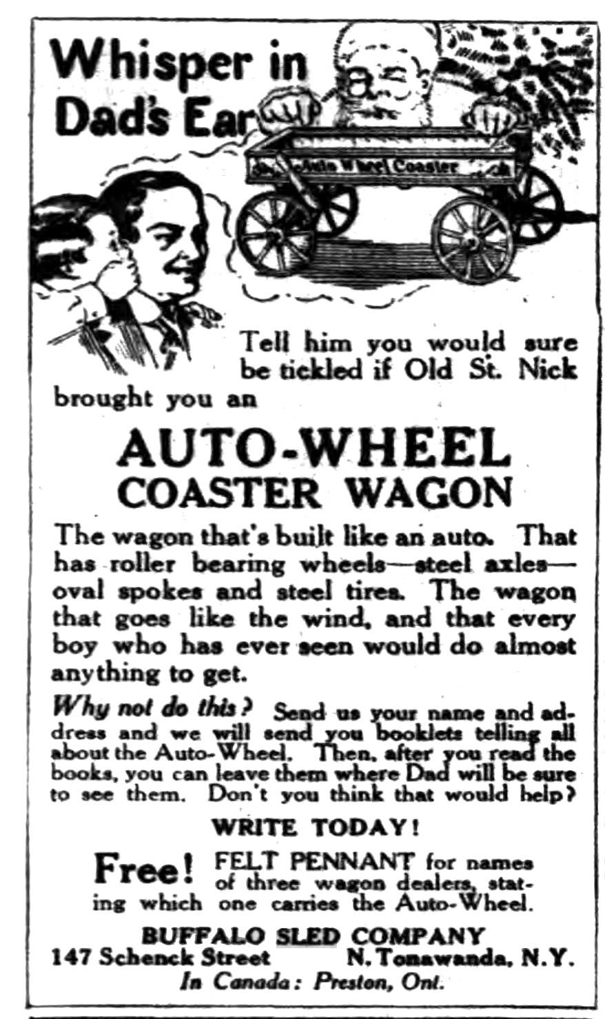 Whisper in Dad's ear, Auto-Wheel, ad (Buffalo Courier, 1916-12-20).jpg