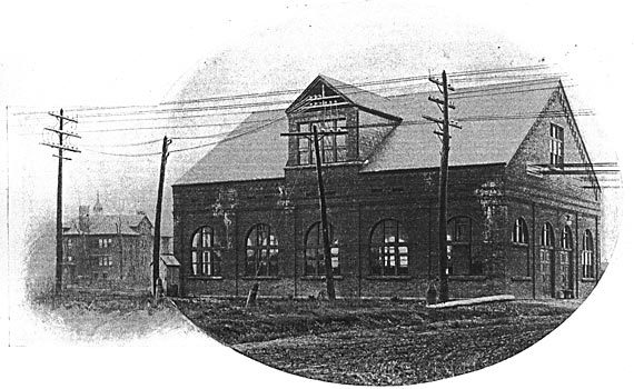 Tonawanda Power Co., Robinson Road Powerhouse, Pine Woods school in background maybe, photo (c1895).jpg