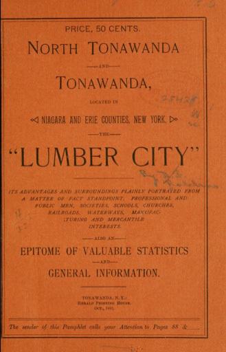 North Tonawanda and Tonawanda - The Lumber City, book cover (1891).jpg