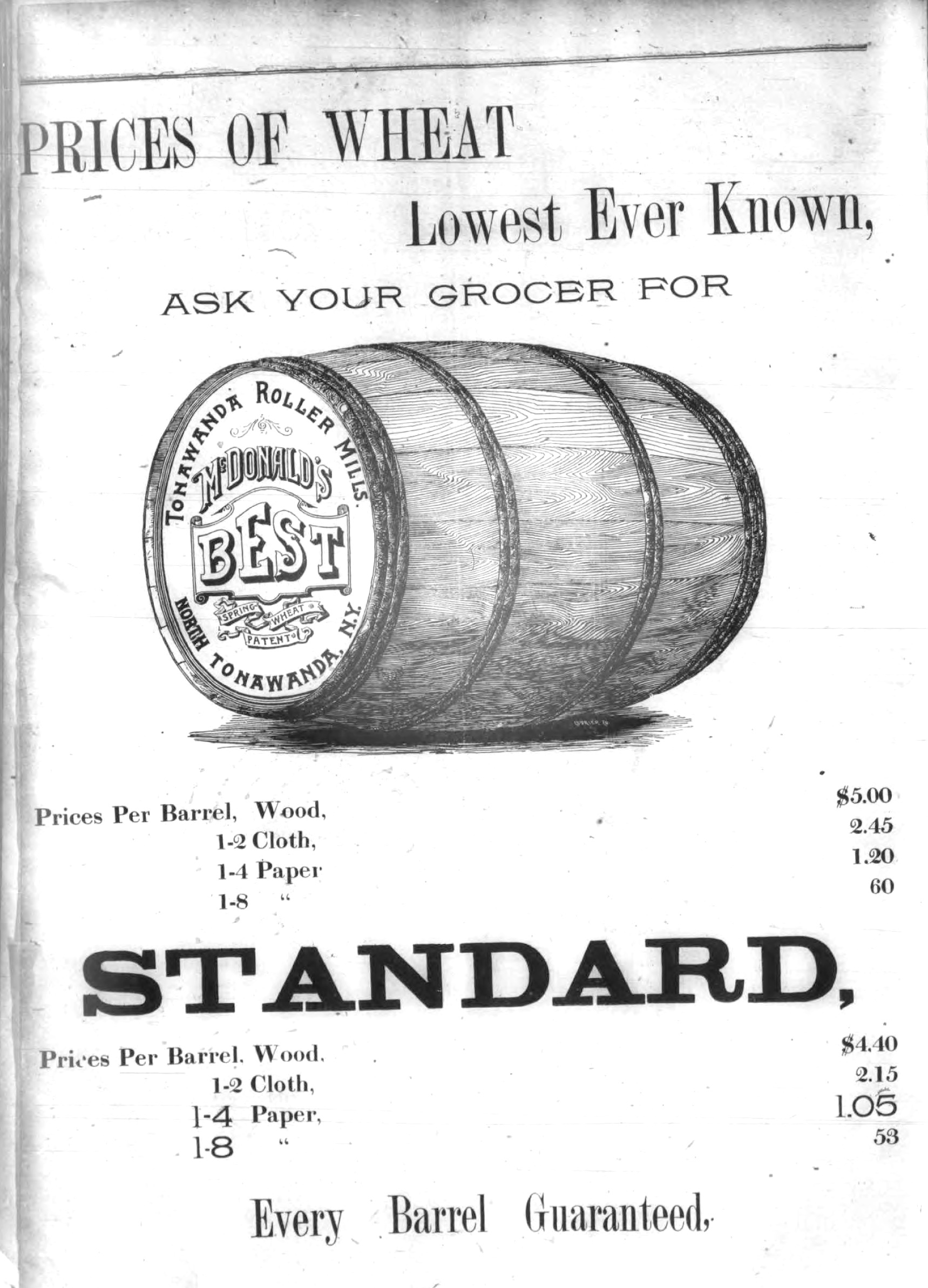Tonawanda Roller Mills, advertisement (Tonawanda News, 1893).jpg