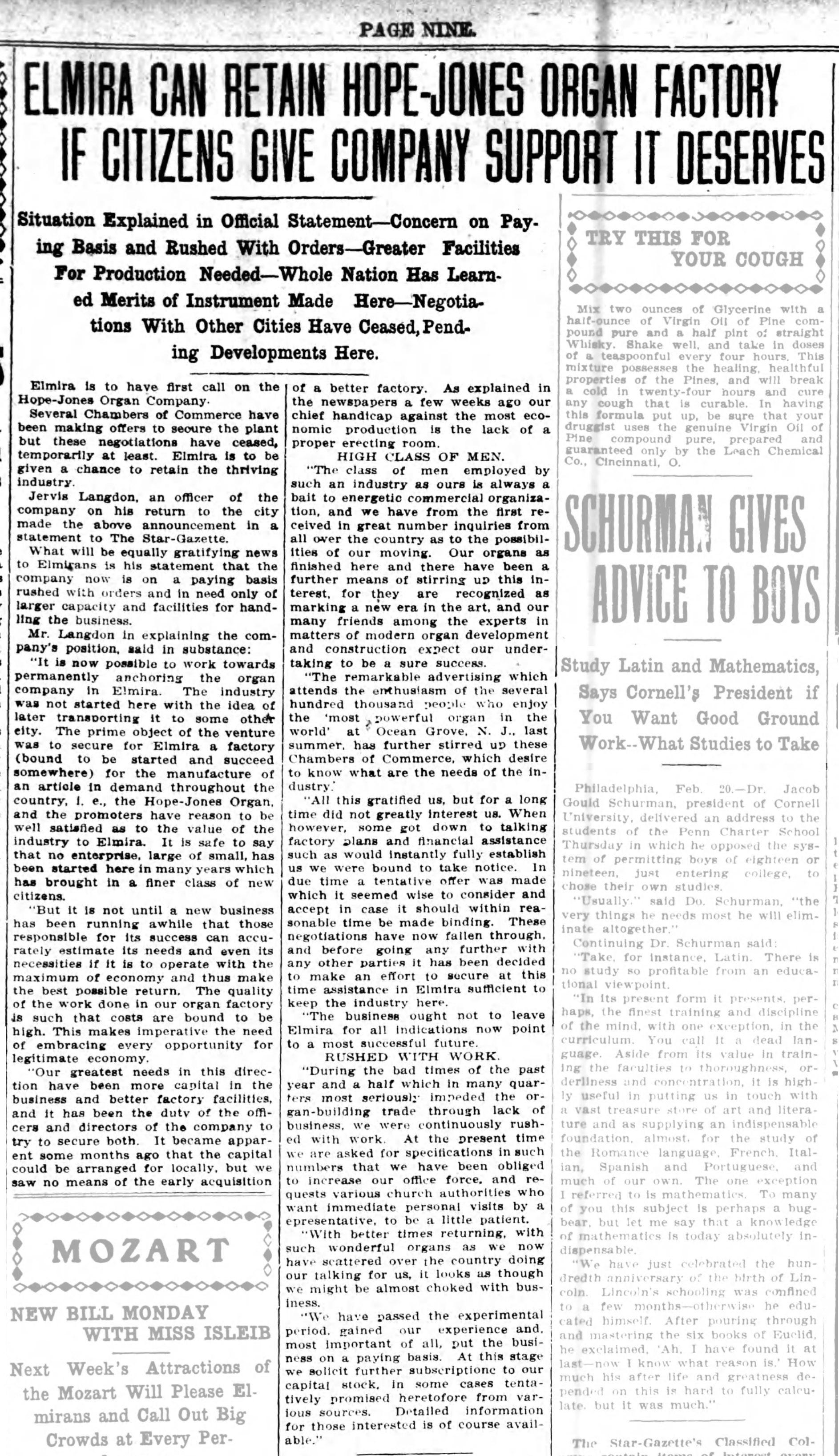 Elmira can retain Hope-Jones if citizens give company support it deserves, article (Elmira Star-Gazette, 1909-02-20).jpg