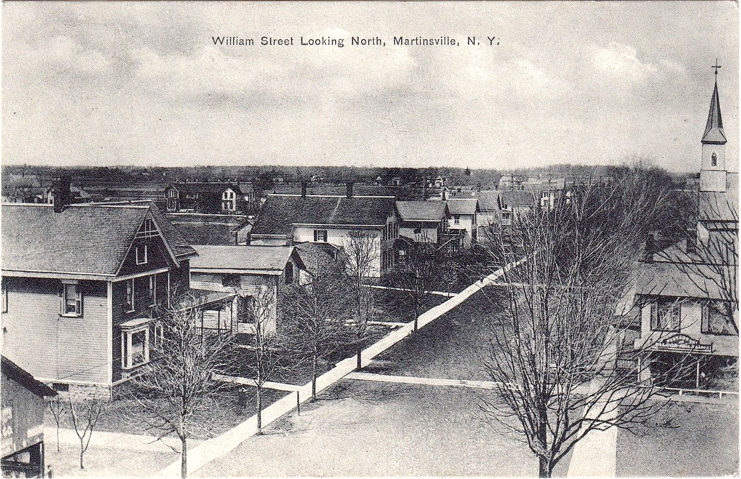 William Street Looking North, Martinsville, postcard (c1910).jpg