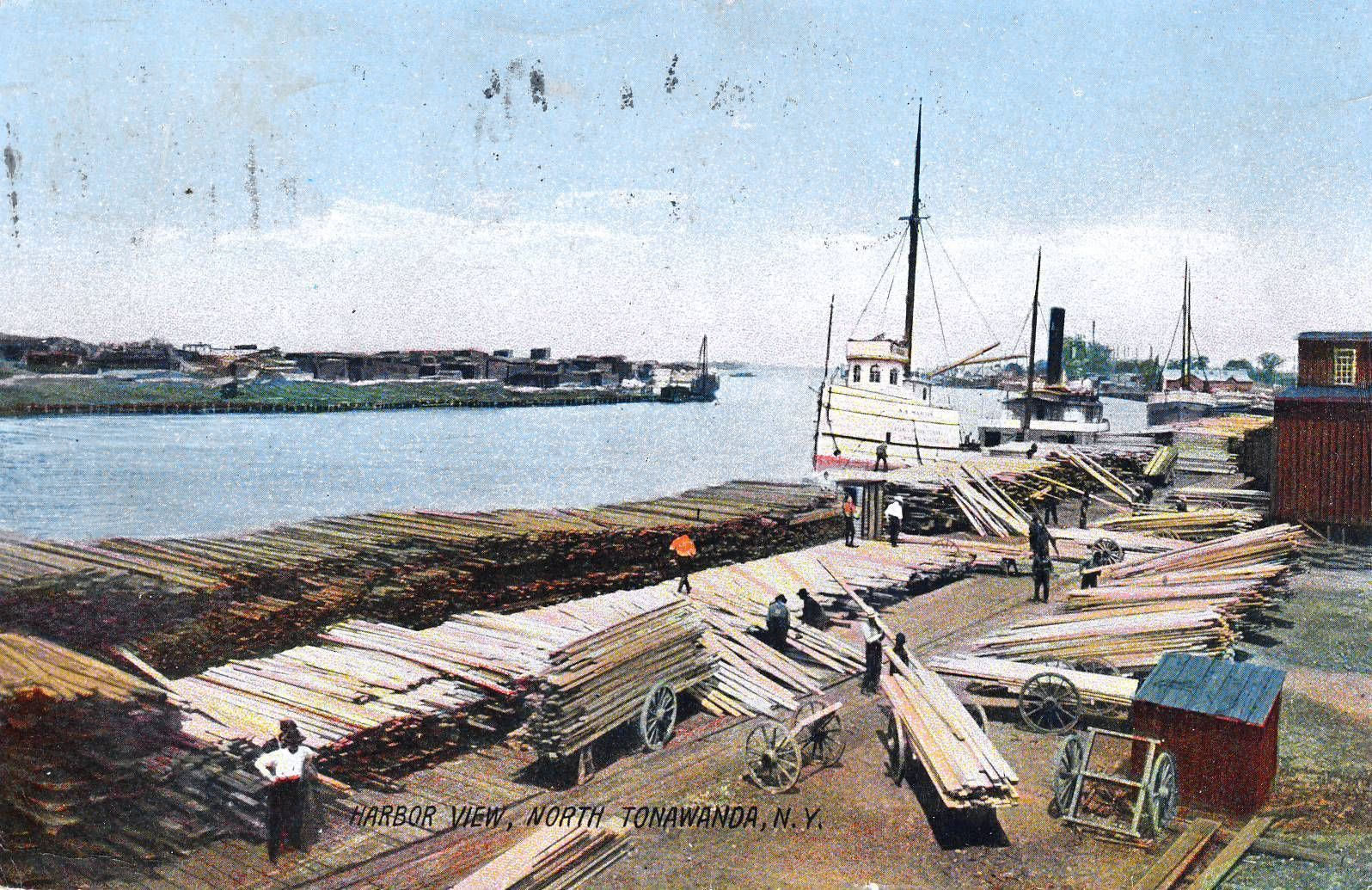 Harbor View, North Tonawanda NY, illustrated postcard (1907).JPG