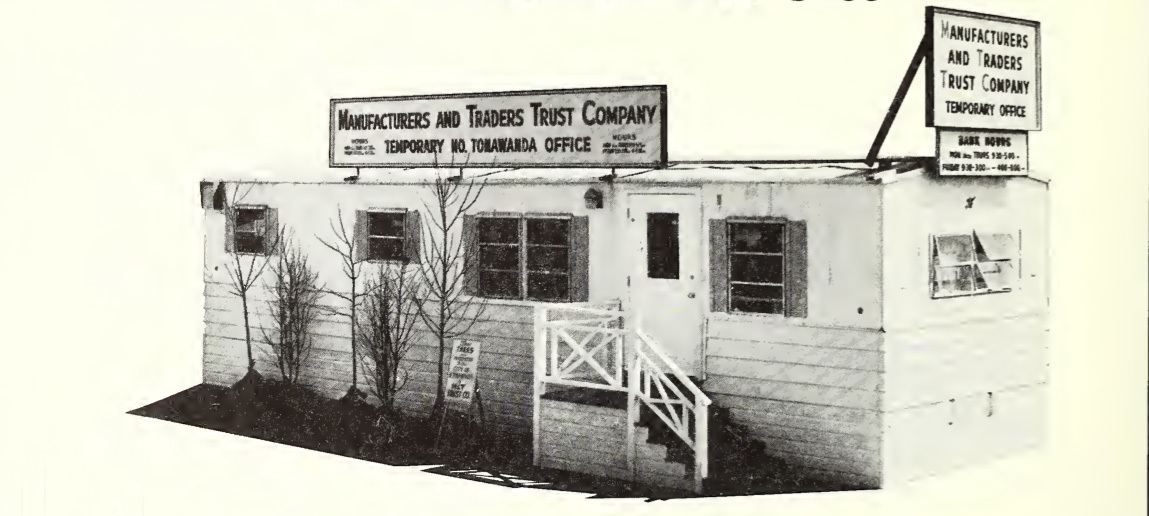 Manufacturers and Traders Temporary Headquarters, North Tonawanda, photo (1965).jpg