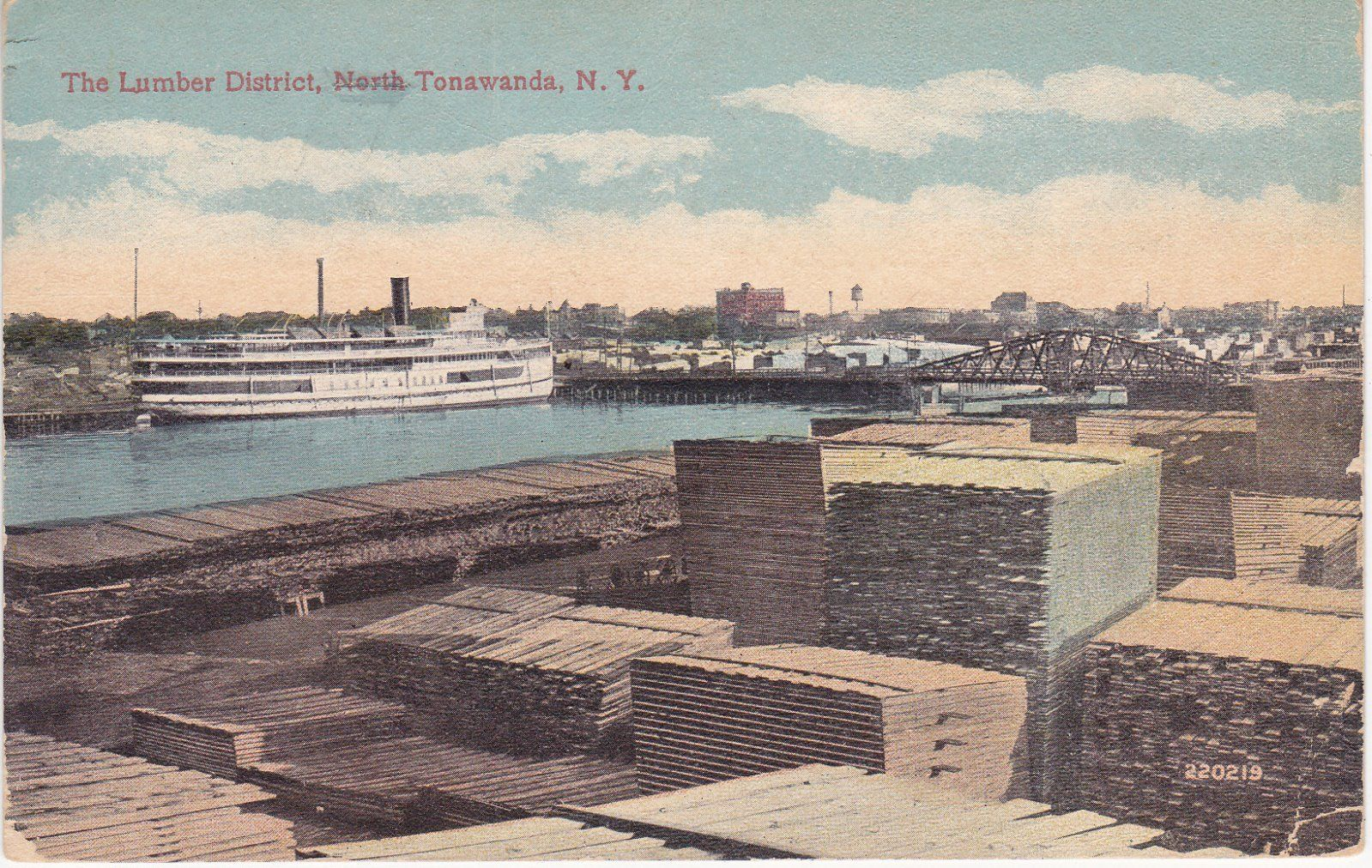 The Lumber District, North Tonawanda, postcard (1919).jpg