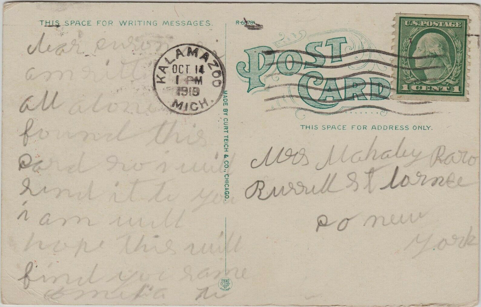 Niagara Scooter, Auto Wheel, Fleetwing, postcard (Buffalo Sled Co., 1919-10-14) 2.jpg