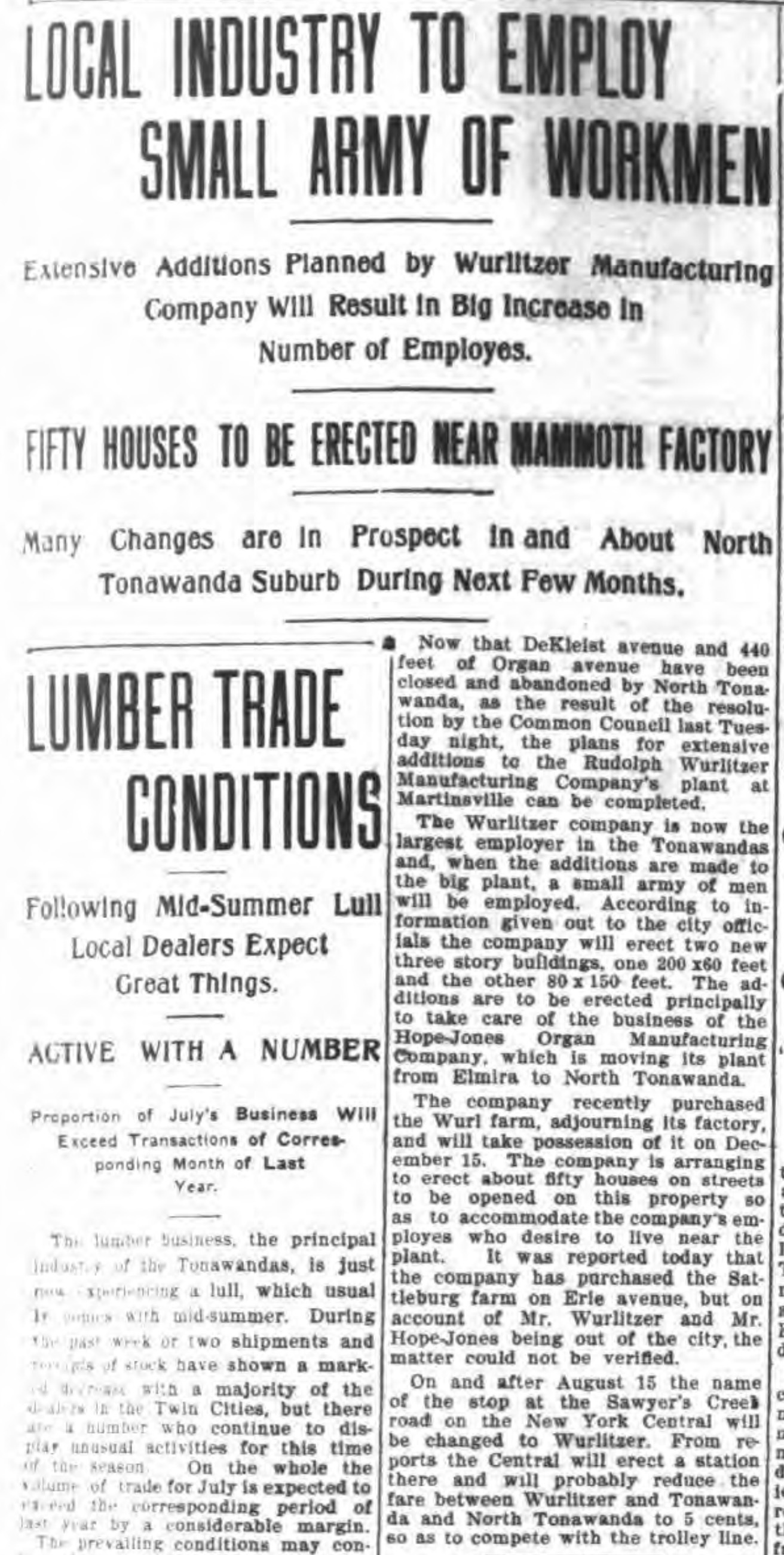 Local industry to employ small army of workmen, article (Tonawanda News, 1910-07-29).jpg