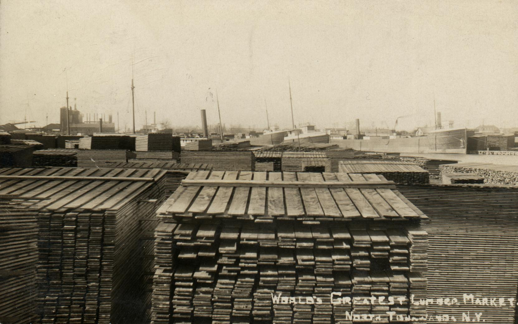 World's Greatest Lumber Market, photo postcard.jpg
