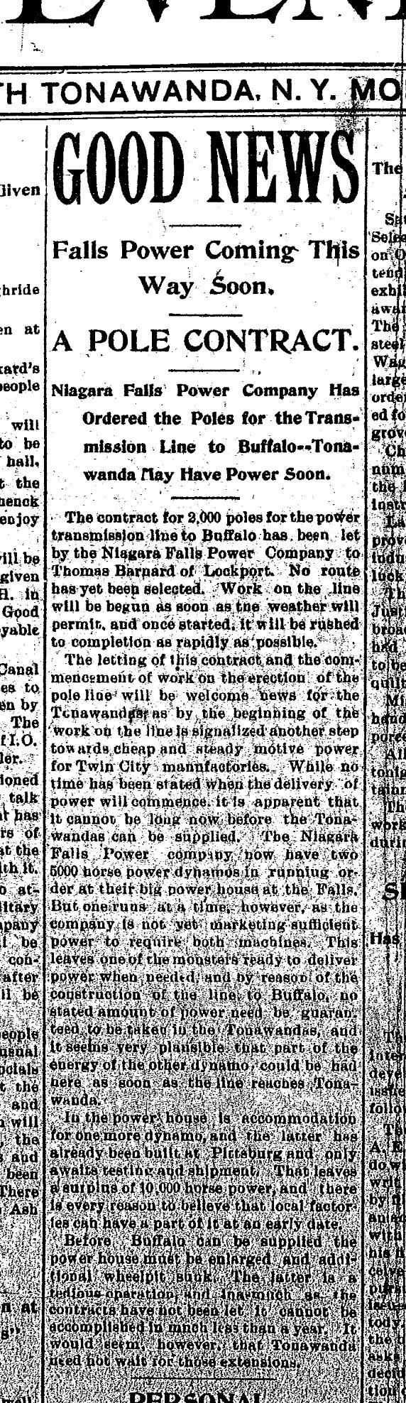 Good News - Falls Power Coming, article (Tonawanda News, 1896-02-17).jpg