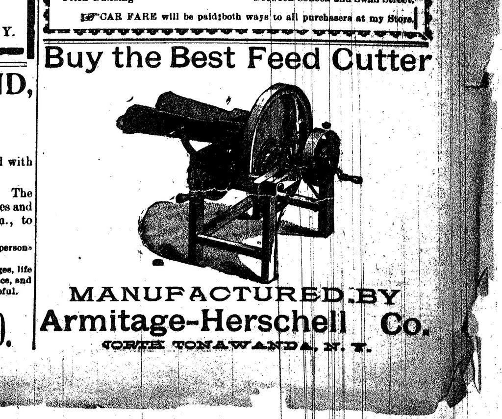 Armitage-Herschell Co., Buy the Best Feed Cutter, ad (Tonawanda News, 1897-07).jpg