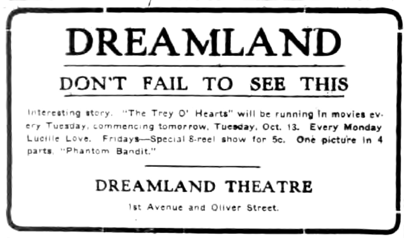Dont fail to see this, Dreamland, ad (Tonawanda News, 1915-10-13).jpg