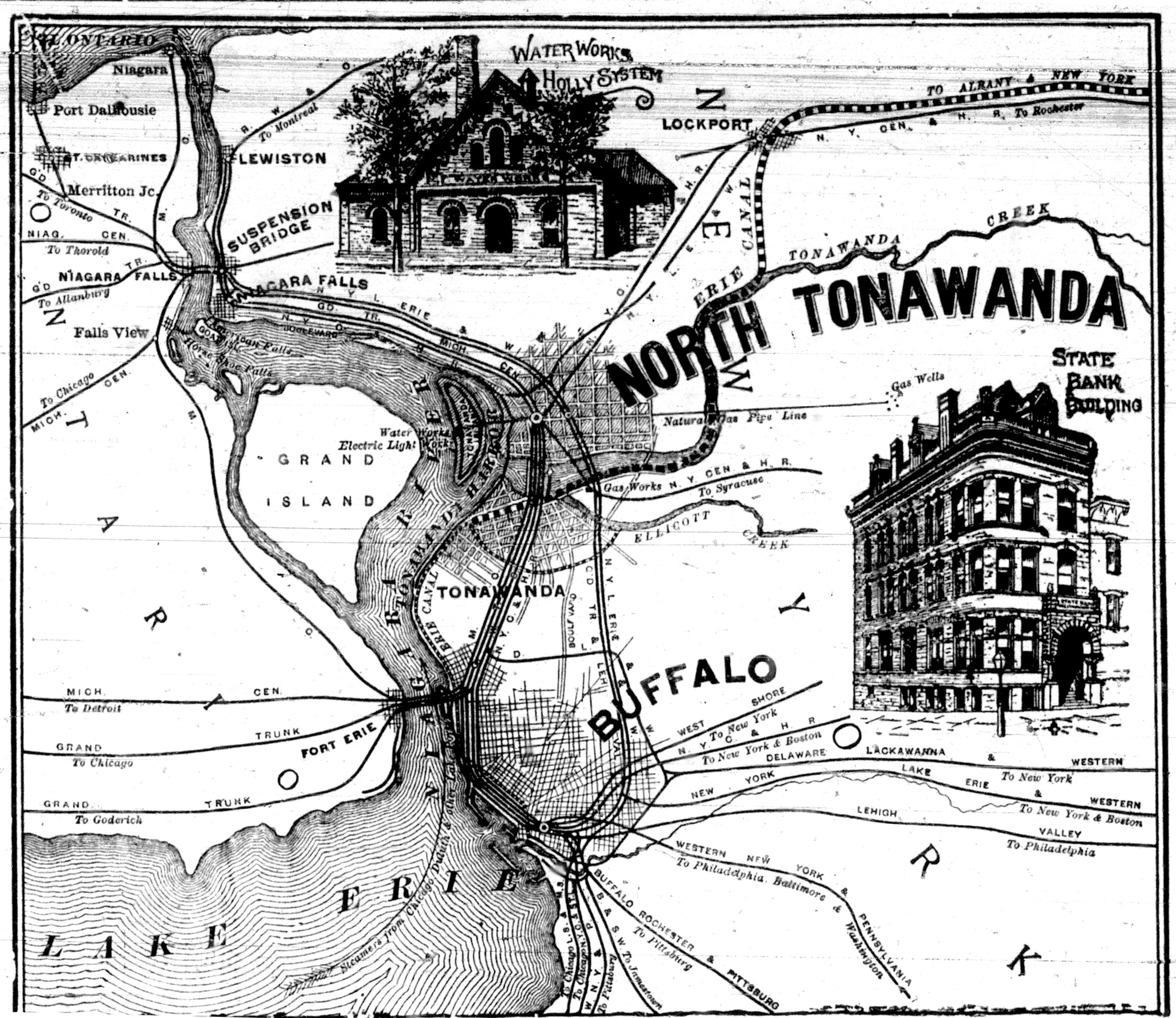 North Tonawanda Map, Waterworks Holly System, State Bank Building, illustration (1893-08-05 Tonawanda News).jpg