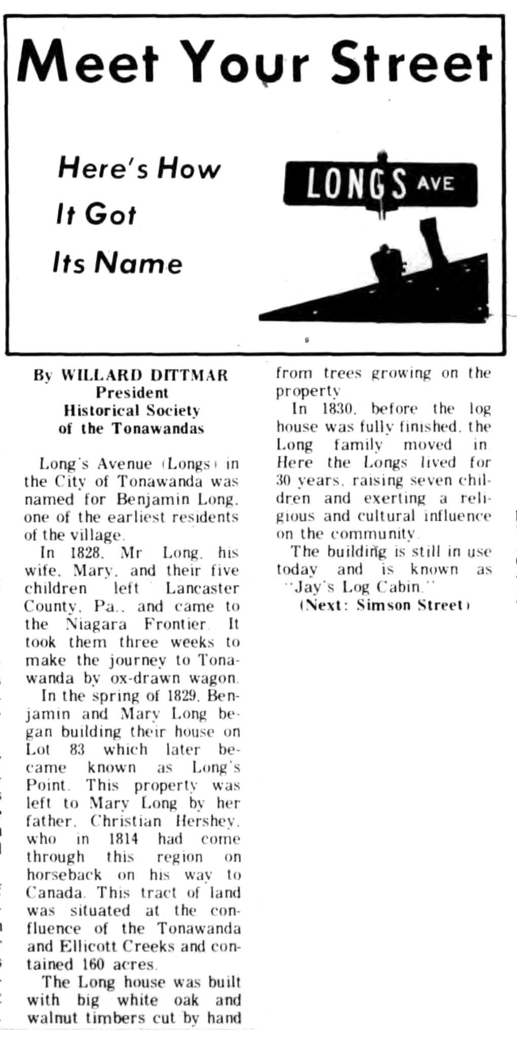 Meet Your Street - Longs Ave in Tonawanda (Tonawanada News, 1970-01-05).jpg
