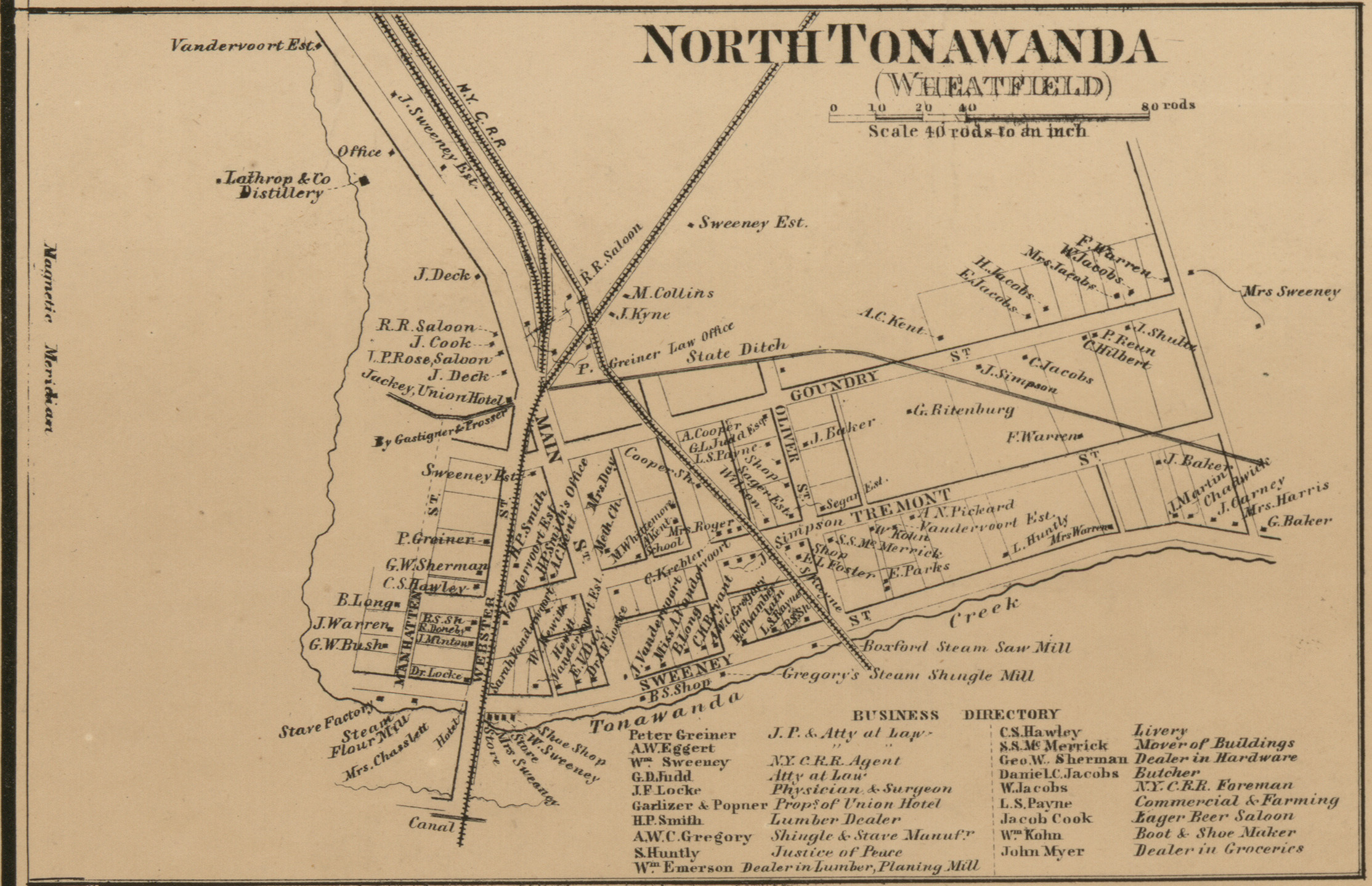 North Tonawanda, map (detail of Map of Niagara and Orleans counties, 1860).jpg