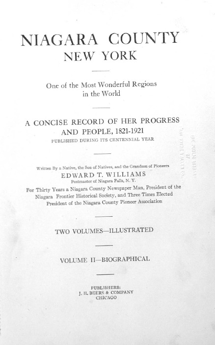 Niagara County 1821-1921 Vol 2, Biographical, book.pdf