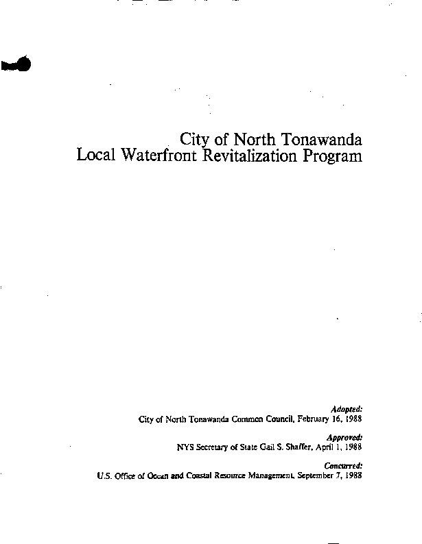 Waterfront Revitalization Plan, City of North Tonawanda (1988).pdf