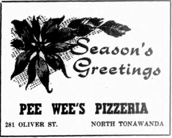 Pee Wee's Pizzeria, 281 Oliver, ad (Tonawanda News, 1955-12-24).jpg
