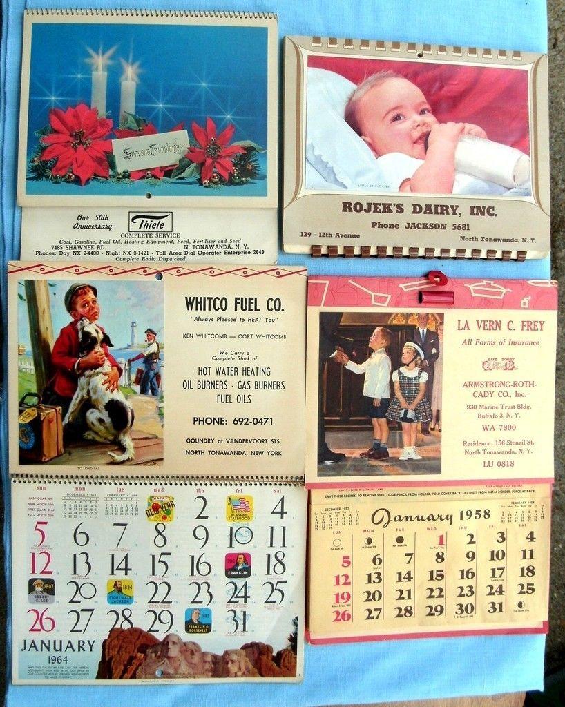 Thiele, Rojeks Dairy, Whitco Fuel, calendars (1950s and 1960s).jpg