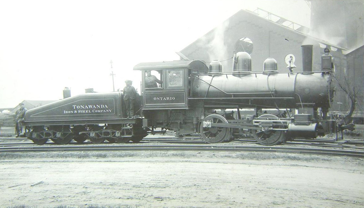 Tonawanda Iron and Steel Company locomotive, photo (1900s?).jpg