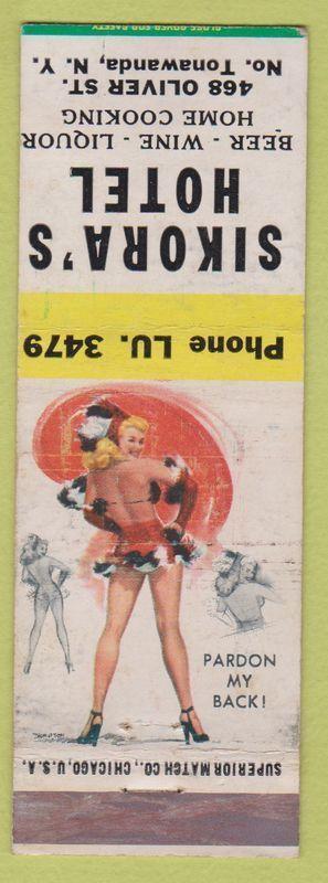 Sikora's Hotel, 468 Oliver, matchbook (c1940).jpg