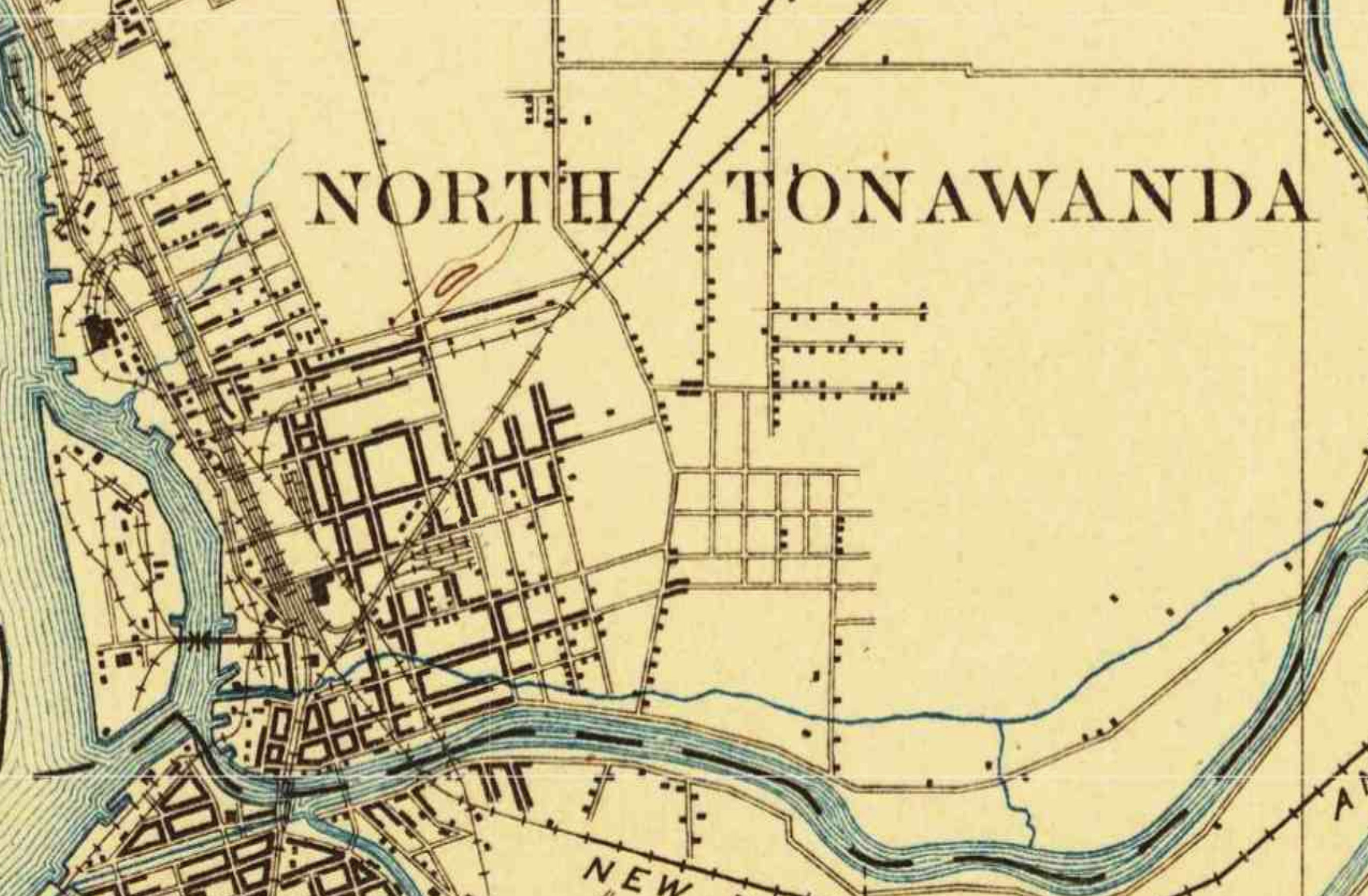 North Tonawanda, Paynes Hill, topgraphical map, seven avenues (1899).jpg