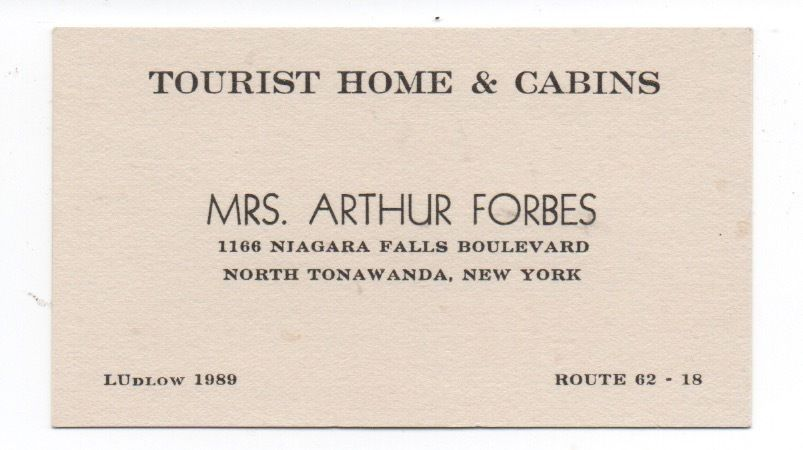 Forbes Tourist Home and Cabins, 1166 Niagara Falls Blvd, card (c1930).jpg