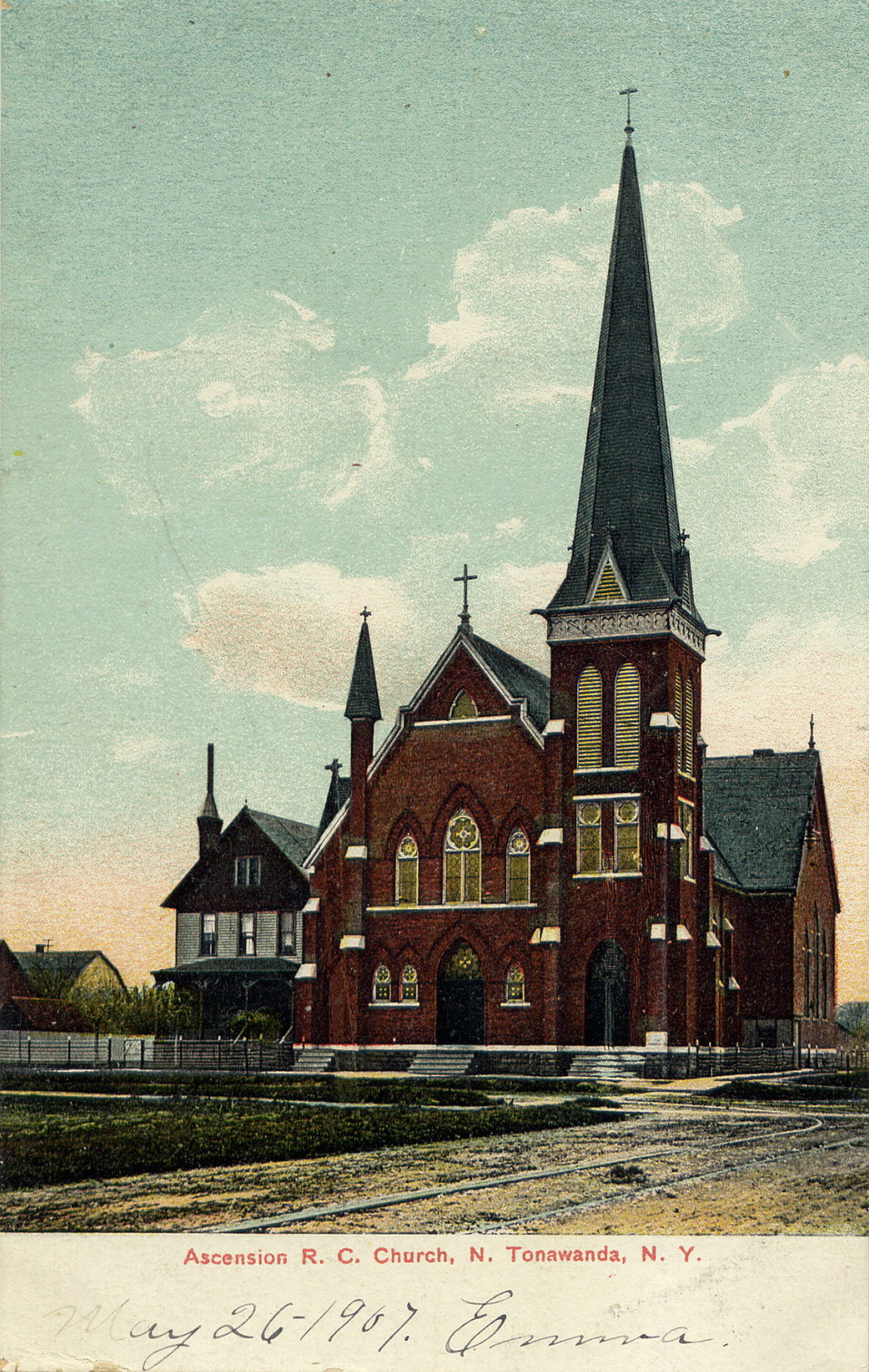 Ascension Roman Catholic Church, illustrated postcard (1907).jpg