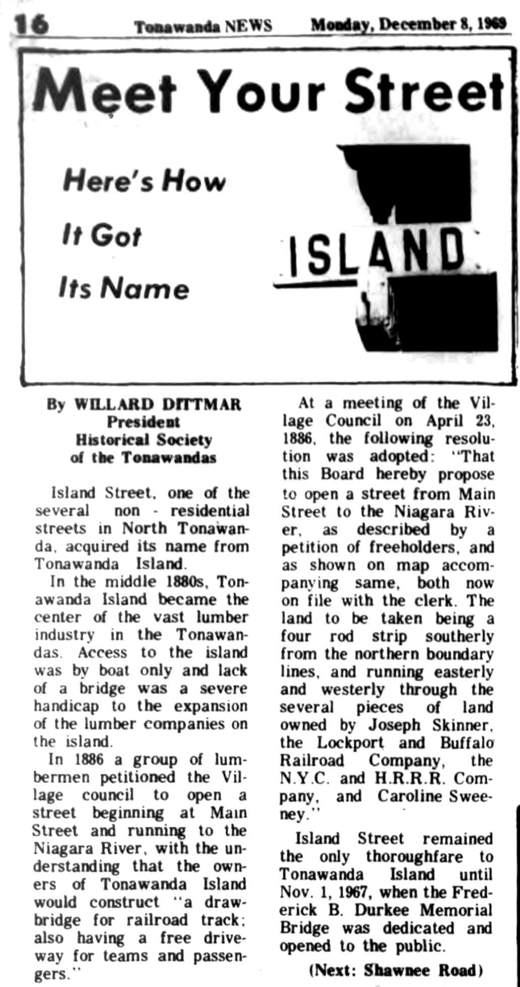 Meet Your Street - Island Street (Tonawanada News, 1969-12-08).jpg