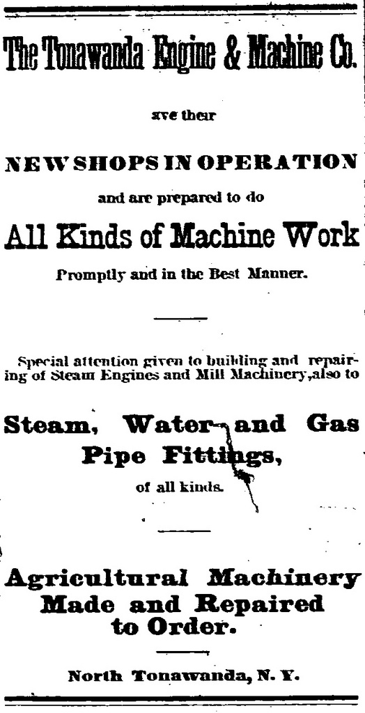 Tonawanda Engine and Machine Co., ad (Tonawanda News c1890).jpg