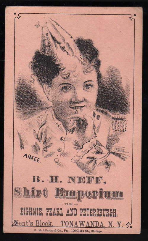 B. H. Neff Shirt Emporium, Kent's Block, trade card (1890s).jpg