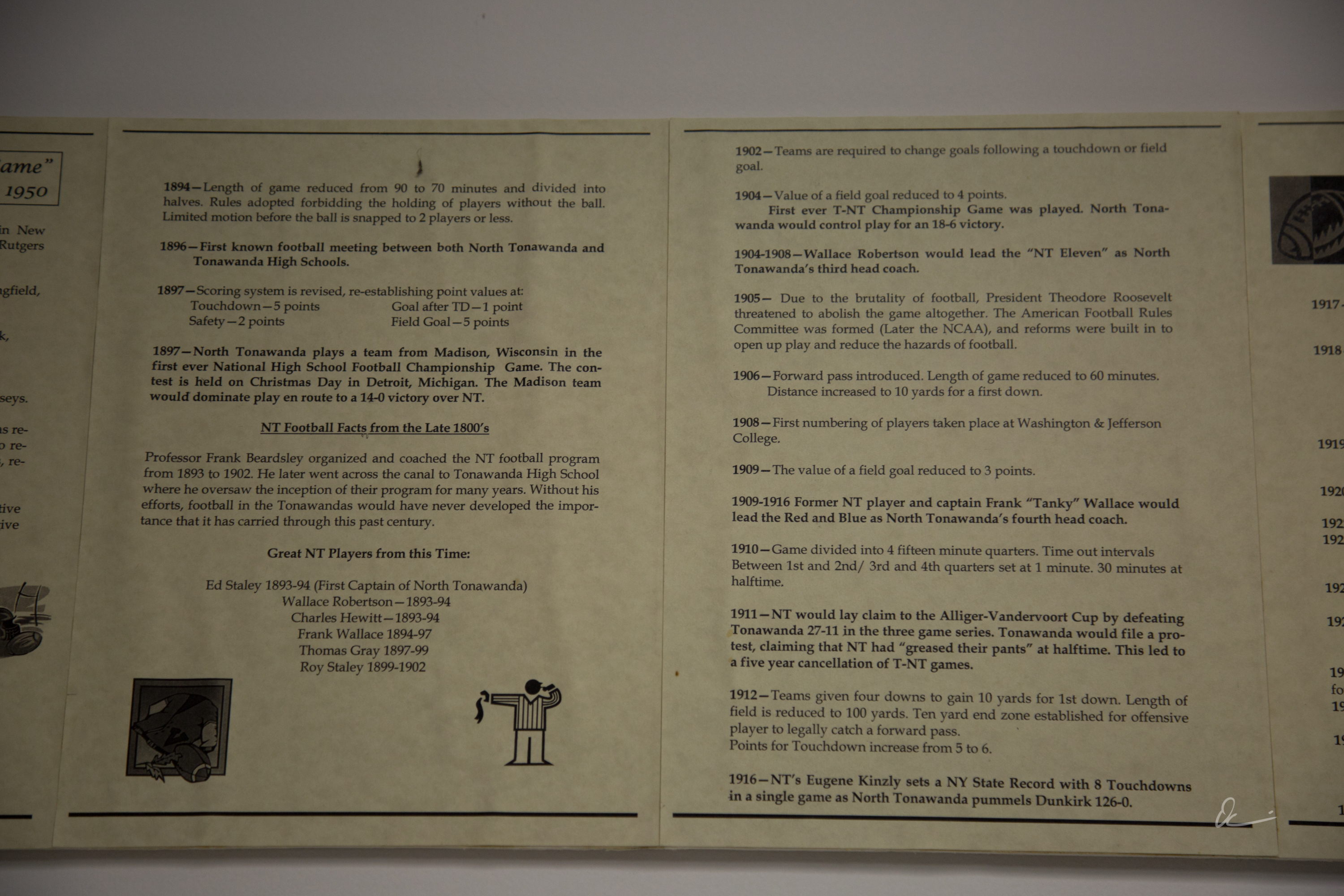 How Rule Changes Have Shaped the Game, display at the North Tonawanda Football Hall of Fame (2017) 2.jpg