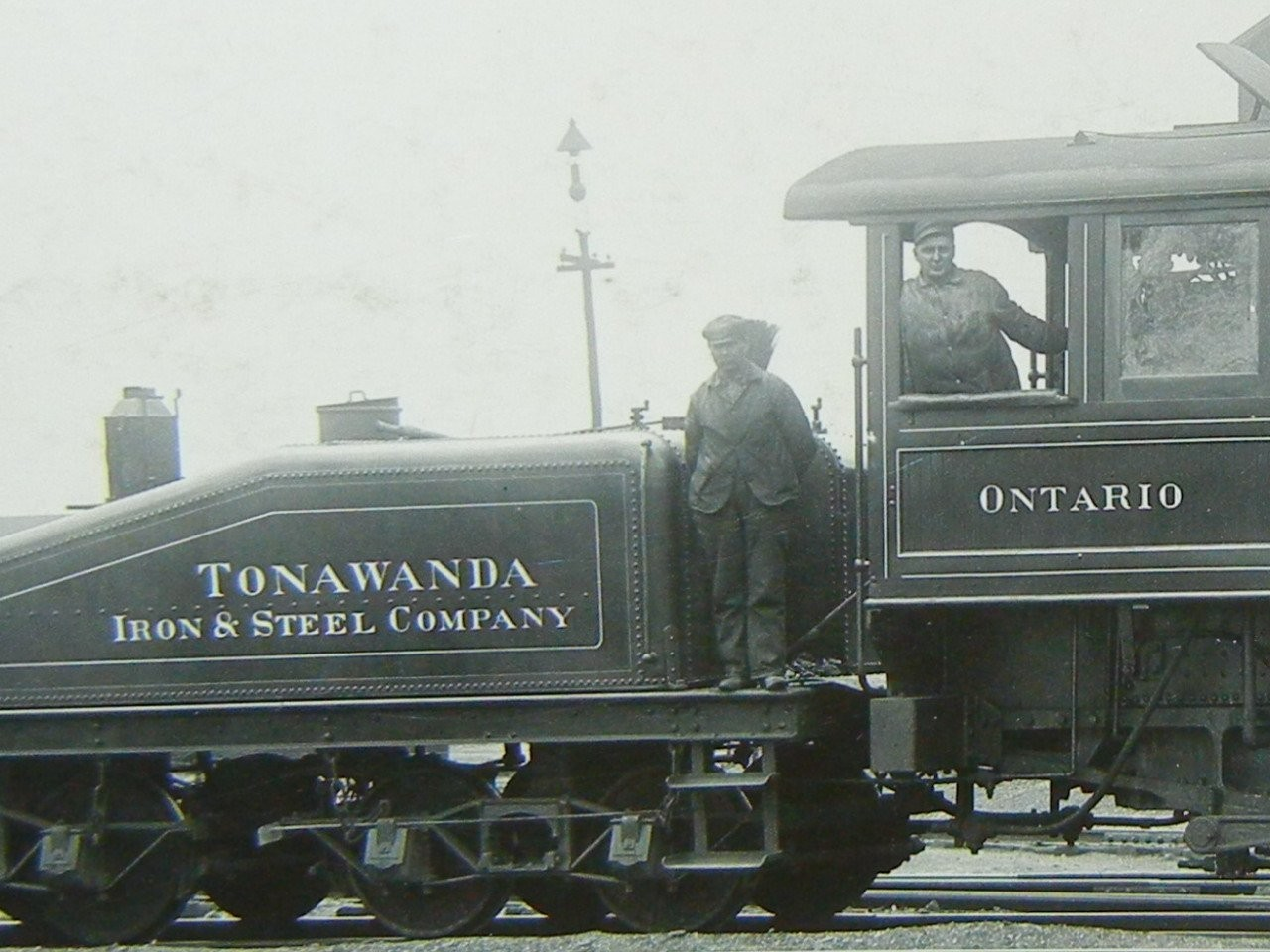 Tonawanda Iron and Steel Company locomotive, photo detail (1900s?).jpg